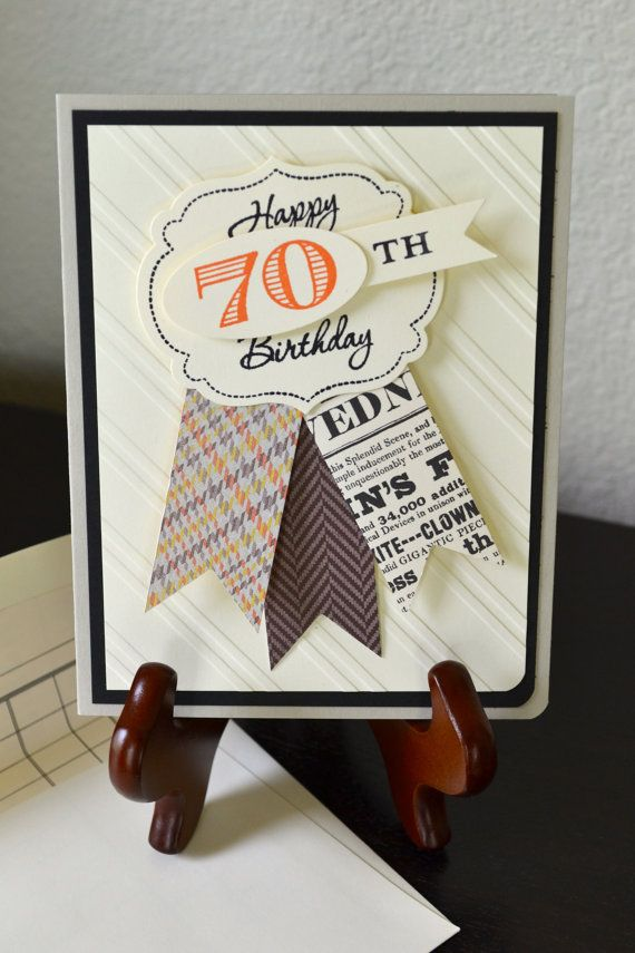 Description 70th Birthday Card