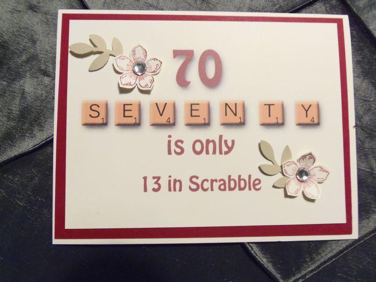 Birthday Card Ideas 70th