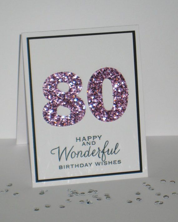 80th Birthday Card Any Age Milestone