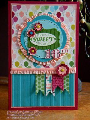 Birthday Card Ideas : Cycle Celebration stamp set, Memorable