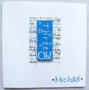 Description Handmade Birthday Card 40th 50th 60th Dad Son