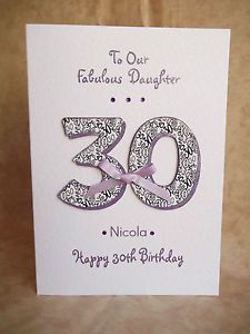 Description Handmade Personalised Birthday Card