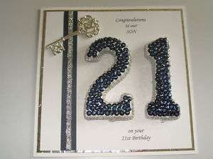 Description Handmade Personalised Boxed Male 21st Birthday Card