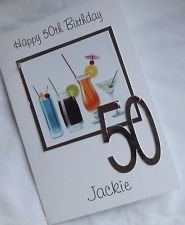 Birthday Card Ideas Handmade Personalised MumSisterFriendAunty