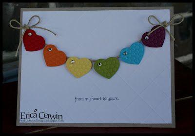 Description Rainbow Of Hearts TAGS Birthday Card Images