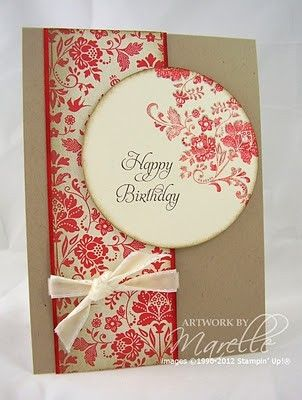 Birthday Card Ideas : pretty Stampin' Up card | YesBirthday