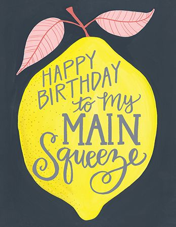 Description Lemon Squeeze Birthday Card