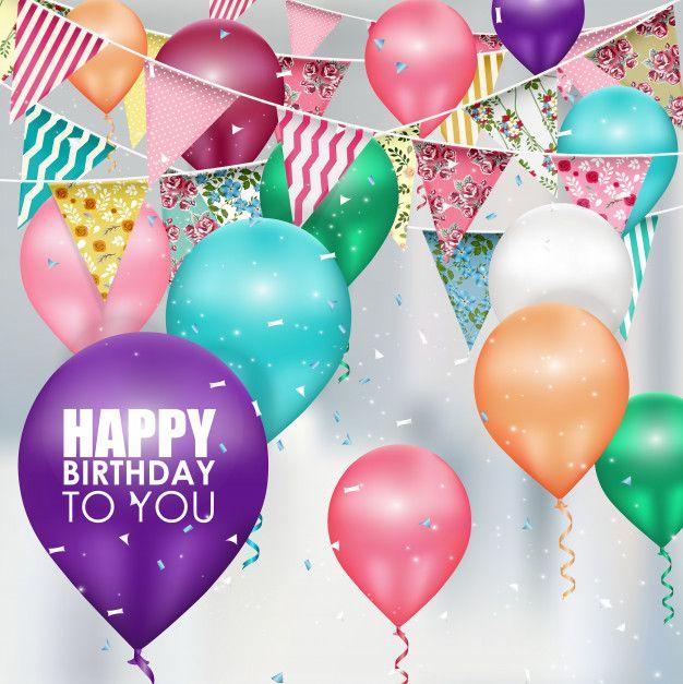Birthday Quotes : Colors balloons Happy Birthday background ...