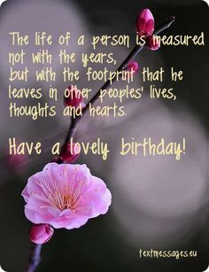 Birthday Quotes Image With Flower And Inspirational Birthday