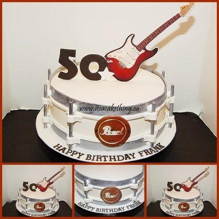 Superb Birthday Cakes 50Th Cake Musical Cake Ideas Musical Cake Funny Birthday Cards Online Fluifree Goldxyz