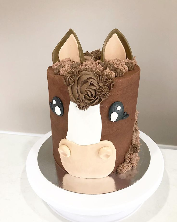 Pleasant Unicorn Birthday Cake A Little Brown Pony For A Horse Loving Funny Birthday Cards Online Fluifree Goldxyz