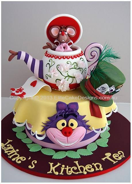 Tremendous Birthday Cakes Alice In Wonderland Cake Yesbirthday Home Of Personalised Birthday Cards Cominlily Jamesorg