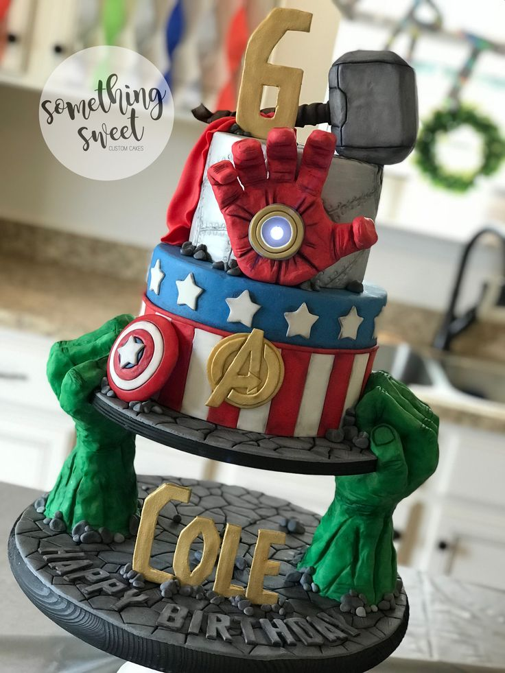 Awe Inspiring Birthday Cakes Avengers Birthday Cake Marvel Hulk Ironman Personalised Birthday Cards Cominlily Jamesorg