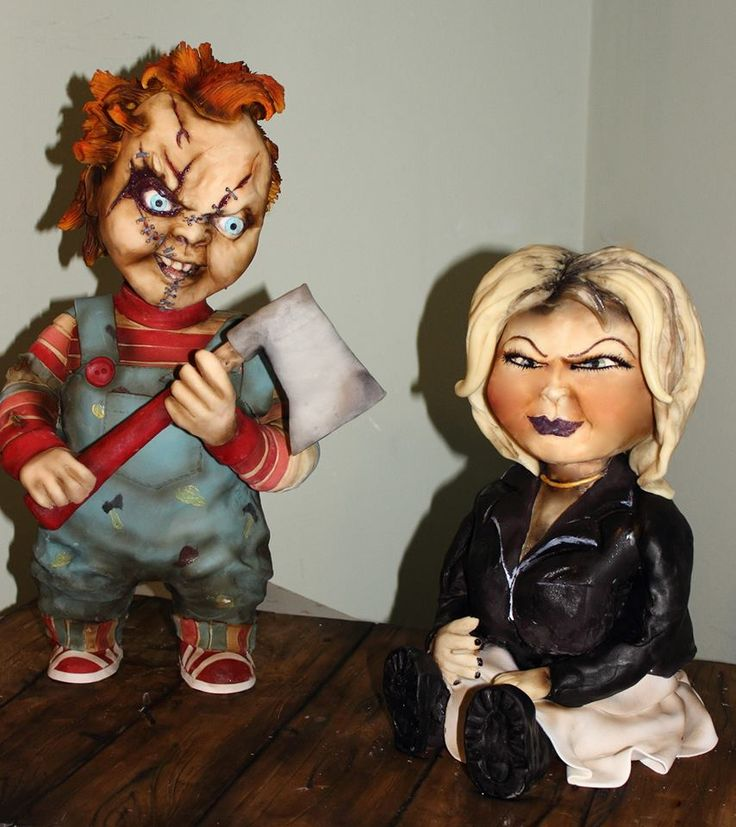 Superb Birthday Cakes Chucky And His Bride Sculpted Cake Yesbirthday Funny Birthday Cards Online Sheoxdamsfinfo
