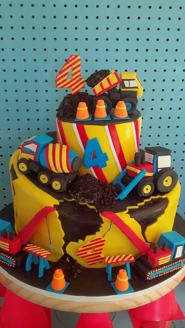 Phenomenal Birthday Cakes Construction Cake Theme Yesbirthday Home Of Birthday Cards Printable Trancafe Filternl