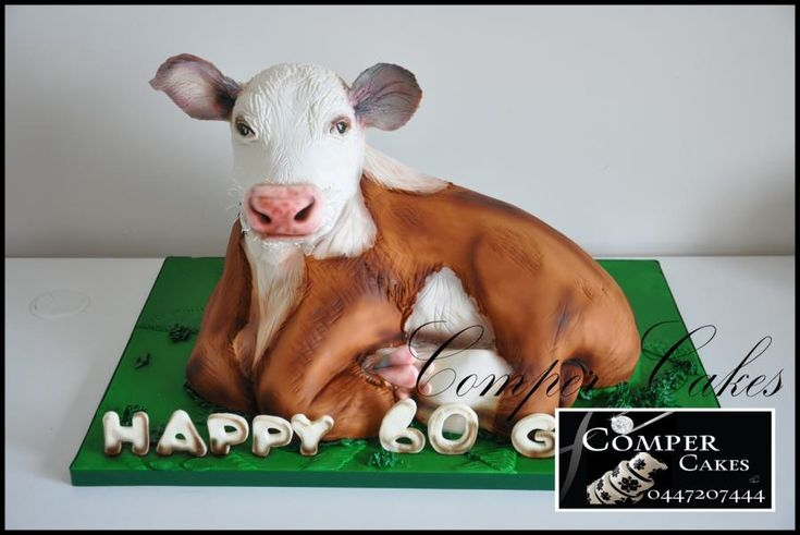 Incredible Birthday Cakes Cow Cake 3D By Comper Cakes See The Cake Funny Birthday Cards Online Overcheapnameinfo