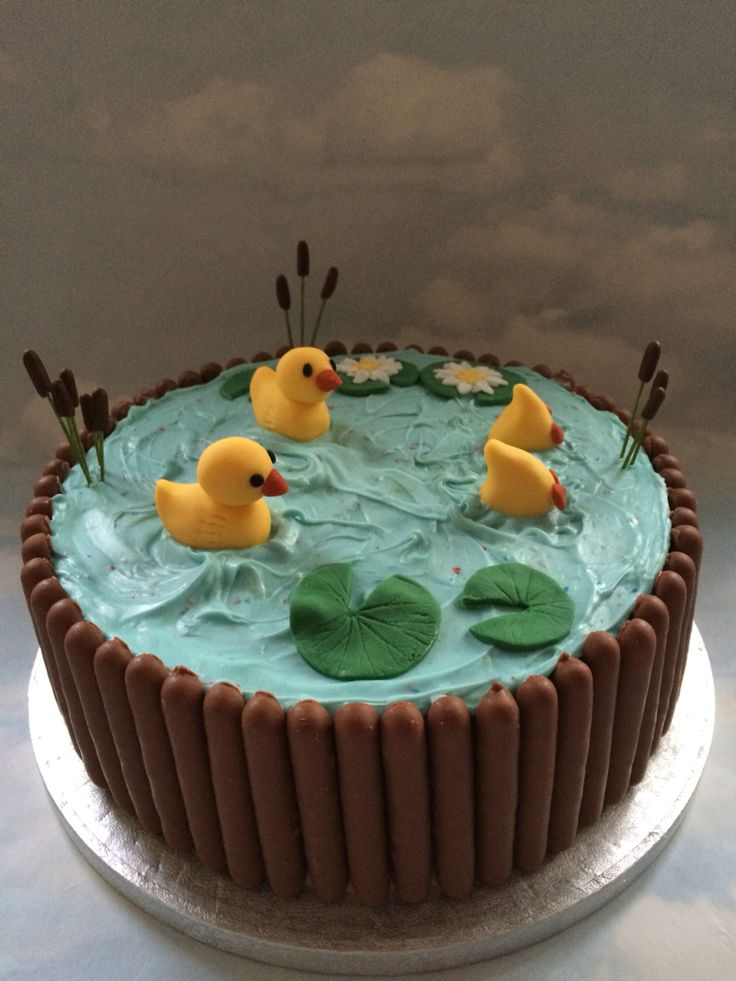 Fantastic Birthday Cakes Duck Pond Cake More Yesbirthday Home Of Funny Birthday Cards Online Alyptdamsfinfo