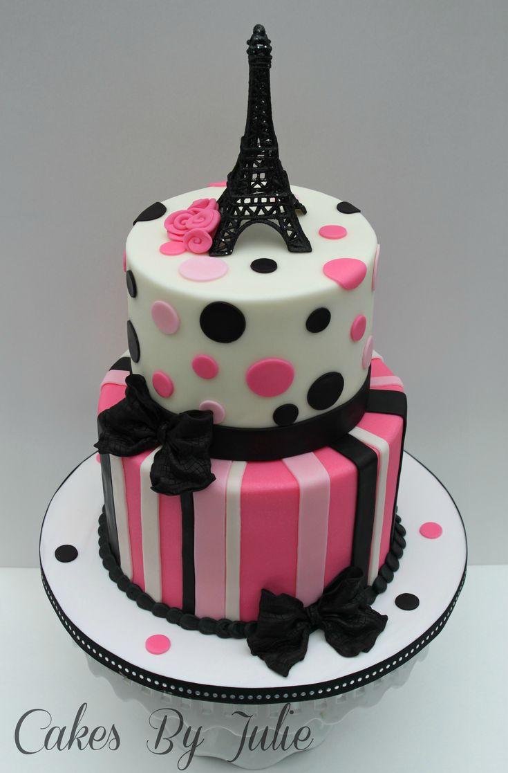 Surprising Birthday Cakes Eiffel Tower Paris Themed 1St Birthday Cake Funny Birthday Cards Online Alyptdamsfinfo