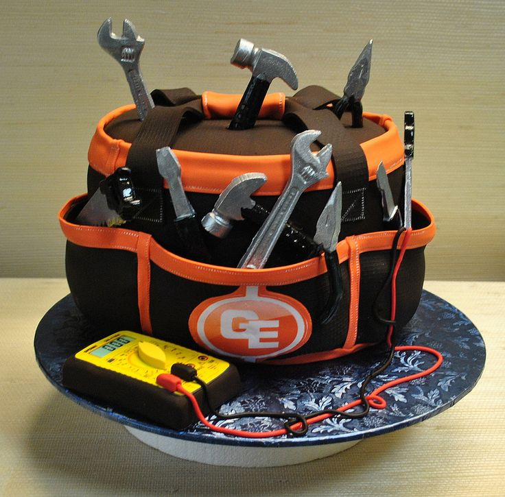 Cool Birthday Cakes Electrician Tool Bag Anniverssary Cake Tools The Personalised Birthday Cards Veneteletsinfo
