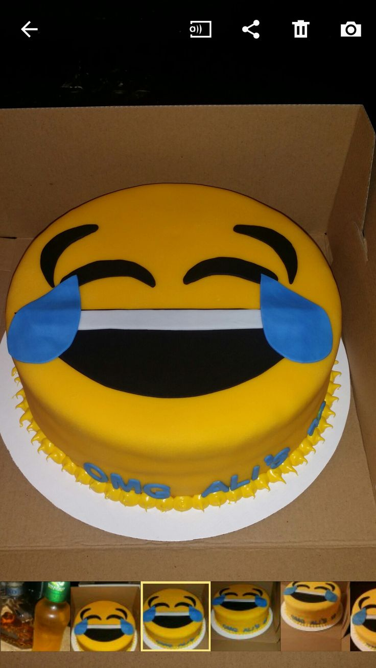 Description Emoji Cake By Me