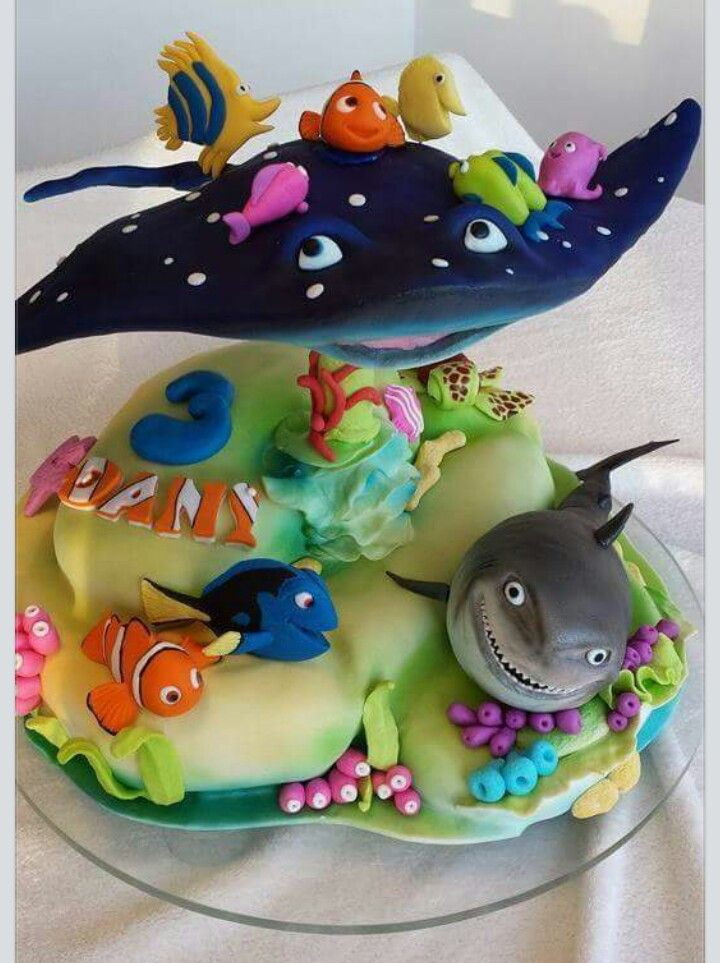 Peachy Birthday Cakes Finding Nemo Cake Yesbirthday Home Of Funny Birthday Cards Online Elaedamsfinfo