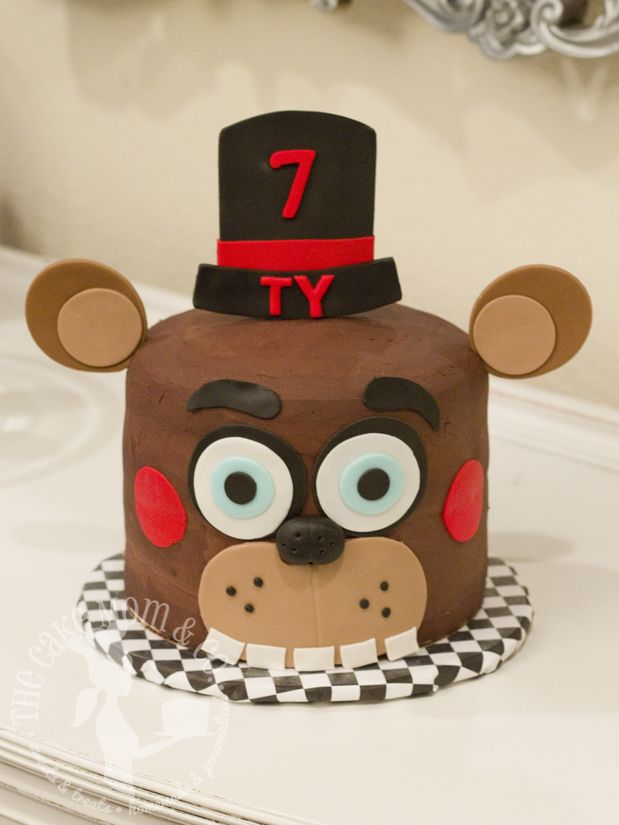 Excellent Birthday Cakes Five Nights At Freddys Birthday Cake By The Cake Personalised Birthday Cards Bromeletsinfo
