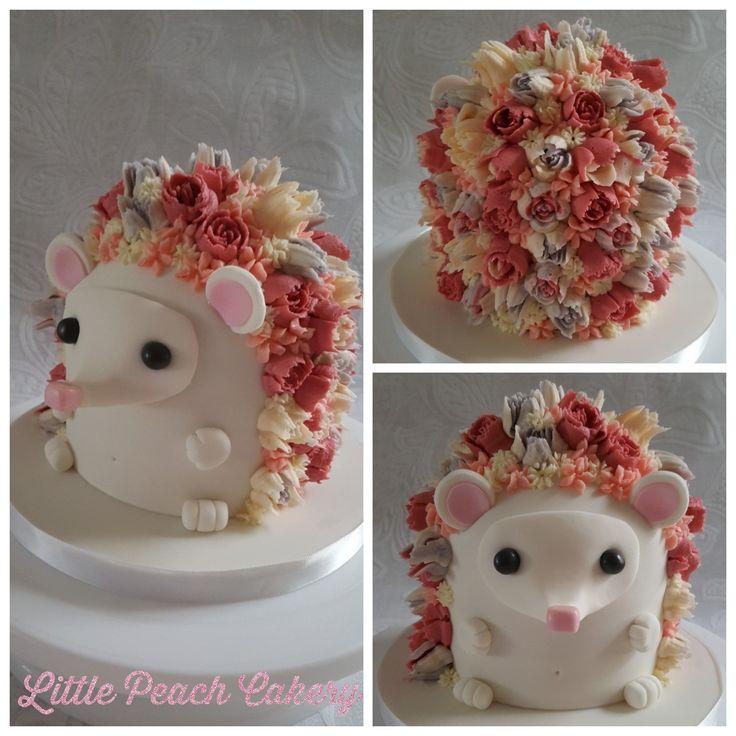 Groovy Birthday Cakes Hedgehog Cake Tutorial Littlepeachcakery Funny Birthday Cards Online Inifodamsfinfo