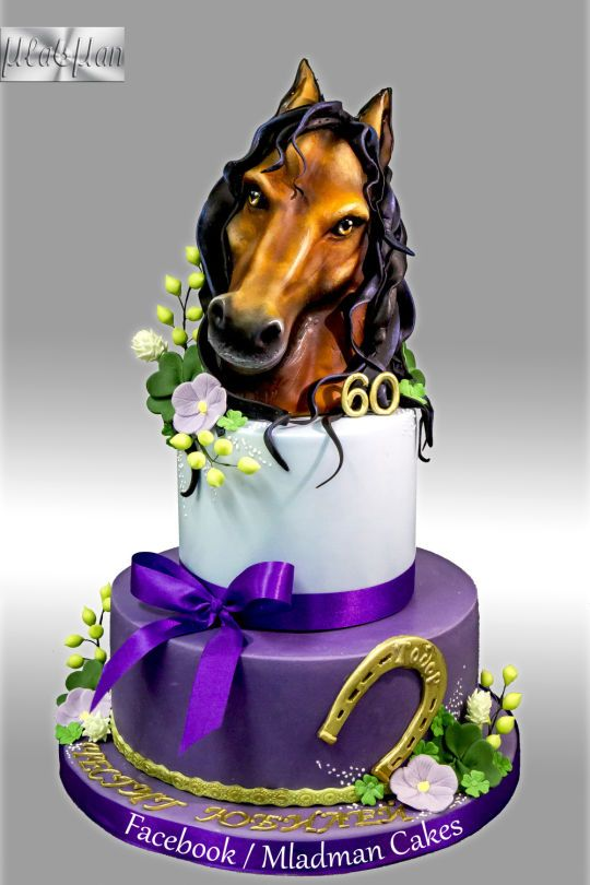 Remarkable Birthday Cakes Horse Anniversary Cake Yesbirthday Home Of Funny Birthday Cards Online Fluifree Goldxyz