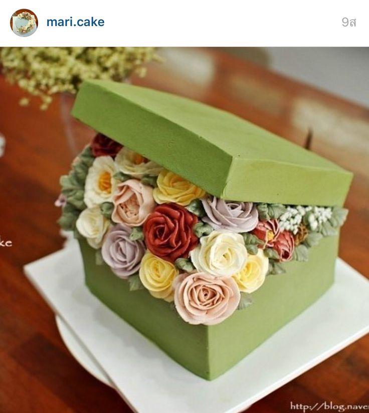 Incredible Birthday Cakes Korea 3D Flower Buttercream Cake Yesbirthday Funny Birthday Cards Online Elaedamsfinfo