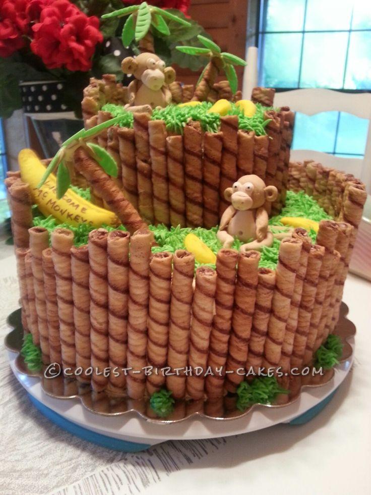 Admirable Birthday Cakes Monkey Around Baby Shower Cake Yesbirthday Personalised Birthday Cards Xaembasilily Jamesorg