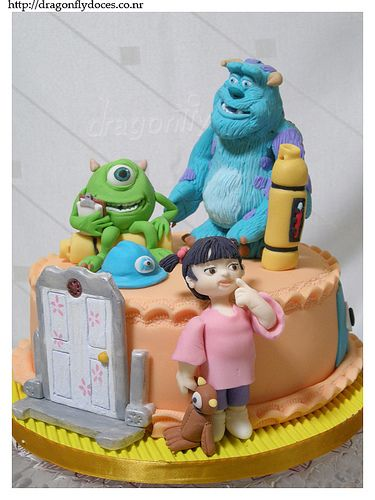 Incredible Birthday Cakes Monsters Inc Cake Bolo Monstros S A Personalised Birthday Cards Veneteletsinfo