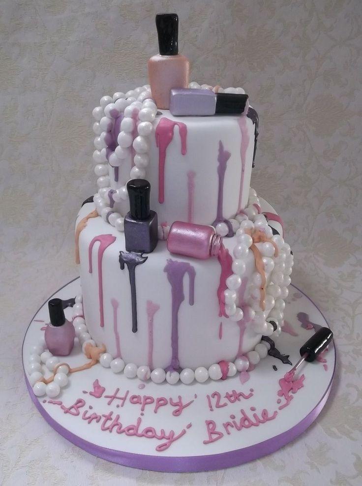 Swell Birthday Cakes Nail Varnish Cake On Cake Central Funny Birthday Cards Online Inifodamsfinfo