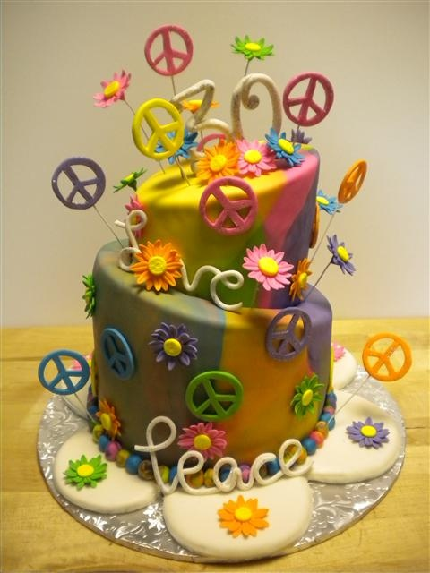 Outstanding Birthday Cakes Peace Cake Cool Yesbirthday Home Of Personalised Birthday Cards Cominlily Jamesorg