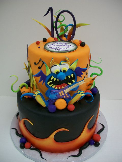 Excellent Birthday Cakes Rock N Roll Monster Cake Yesbirthday Home Of Birthday Cards Printable Opercafe Filternl