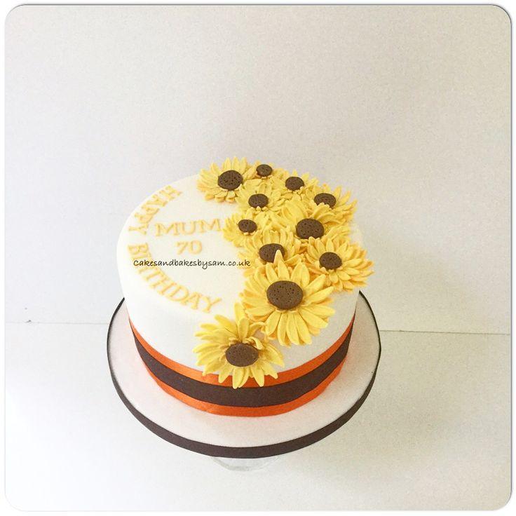 Wondrous Birthday Cakes Sunflower Birthday Cake Yesbirthday Home Of Funny Birthday Cards Online Necthendildamsfinfo