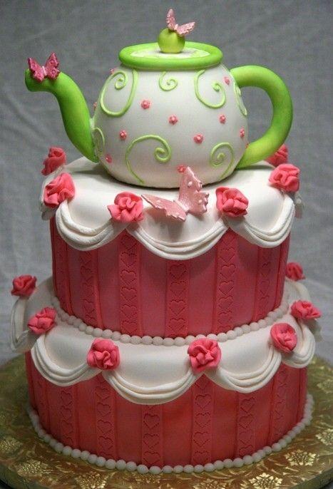 Strange Birthday Cakes Teapot Cake Yesbirthday Home Of Birthday Funny Birthday Cards Online Benoljebrpdamsfinfo