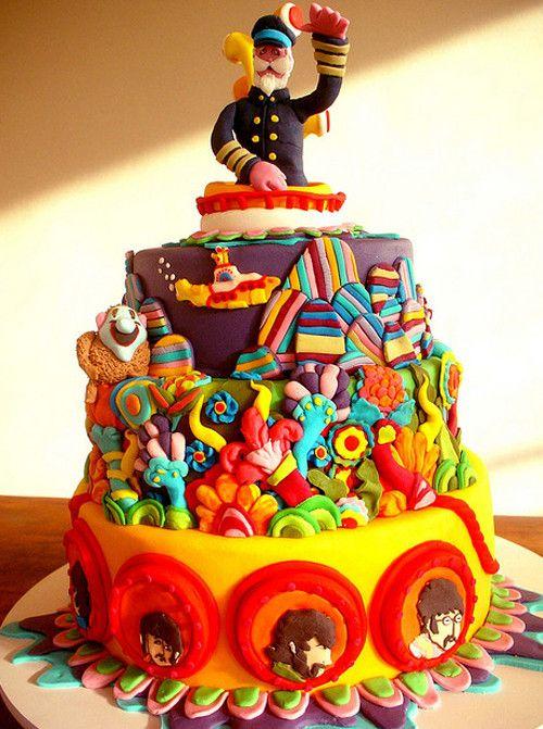 Awesome Birthday Cakes The Beatles Birthday Cake Yesbirthday Home Funny Birthday Cards Online Alyptdamsfinfo