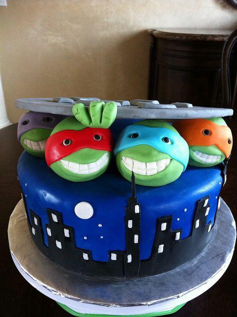 Stupendous Birthday Cakes The Teenage Mutant Ninja Turtles Cake Funny Birthday Cards Online Overcheapnameinfo