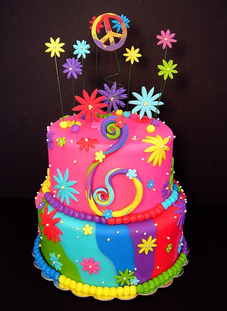 Sensational Birthday Cakes Tie Dyed Peace Sign Cake 800 Yesbirthday Home Personalised Birthday Cards Epsylily Jamesorg