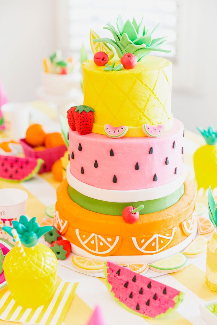 Birthday Cakes Two Tti Fruity Party Blakely Turns 2