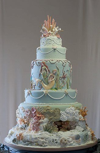 Fabulous Birthday Cakes Under The Sea Cake With Mermaids Coral Funny Birthday Cards Online Eattedamsfinfo