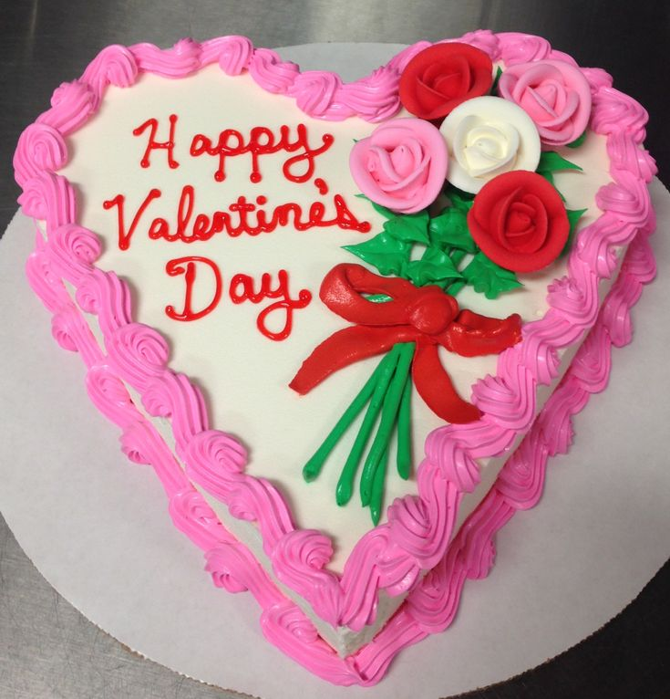 Terrific Birthday Cakes Valentines Day Dq Heart Ice Cream Cake With Birthday Cards Printable Riciscafe Filternl