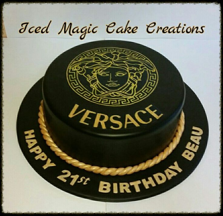 Admirable Birthday Cakes Versace 21St Birthday Cake Facebook Com Funny Birthday Cards Online Elaedamsfinfo