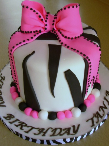 Excellent Birthday Cakes Zebra Print Birthday Cake My Sister In Law Made Funny Birthday Cards Online Overcheapnameinfo