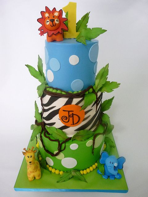 Astounding Birthday Cakes Baby Safari Flickr Photo Sharing Funny Birthday Cards Online Alyptdamsfinfo