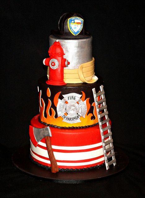 Enjoyable Birthday Cakes Firefighter Cakes Firefighter Cakes Funny Birthday Cards Online Overcheapnameinfo