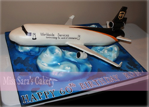 Stupendous Birthday Cakes Ups Airplane Cake Yesbirthday Home Of Funny Birthday Cards Online Necthendildamsfinfo