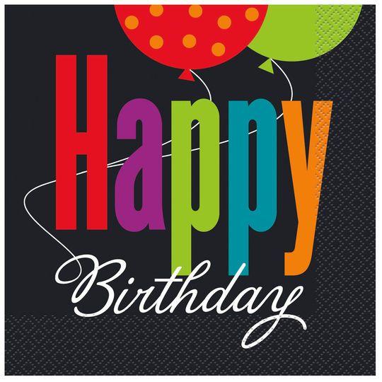 Birthday Quotes : Birthday Cheer Luncheon Napkins, 16ct