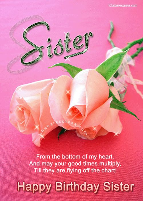 Birthday Quotes Happy Sister Cards