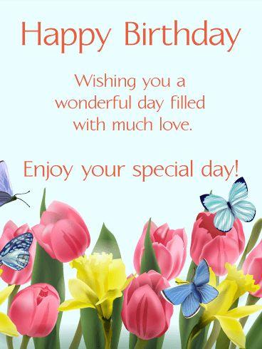 Description Send Free Happy Spring Birthday Card